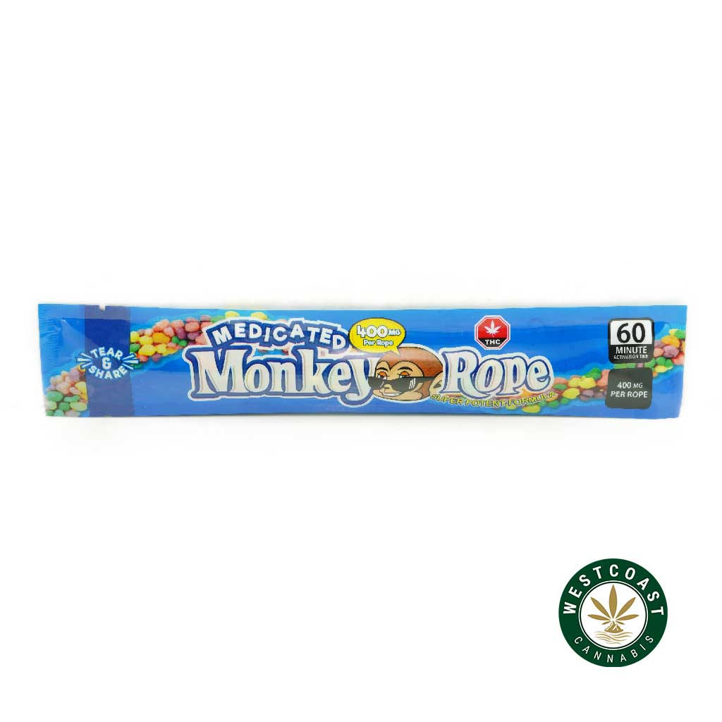 Buy Laughing Monkey Monkey Rope 400mg THC at Wccannabis Online Shop