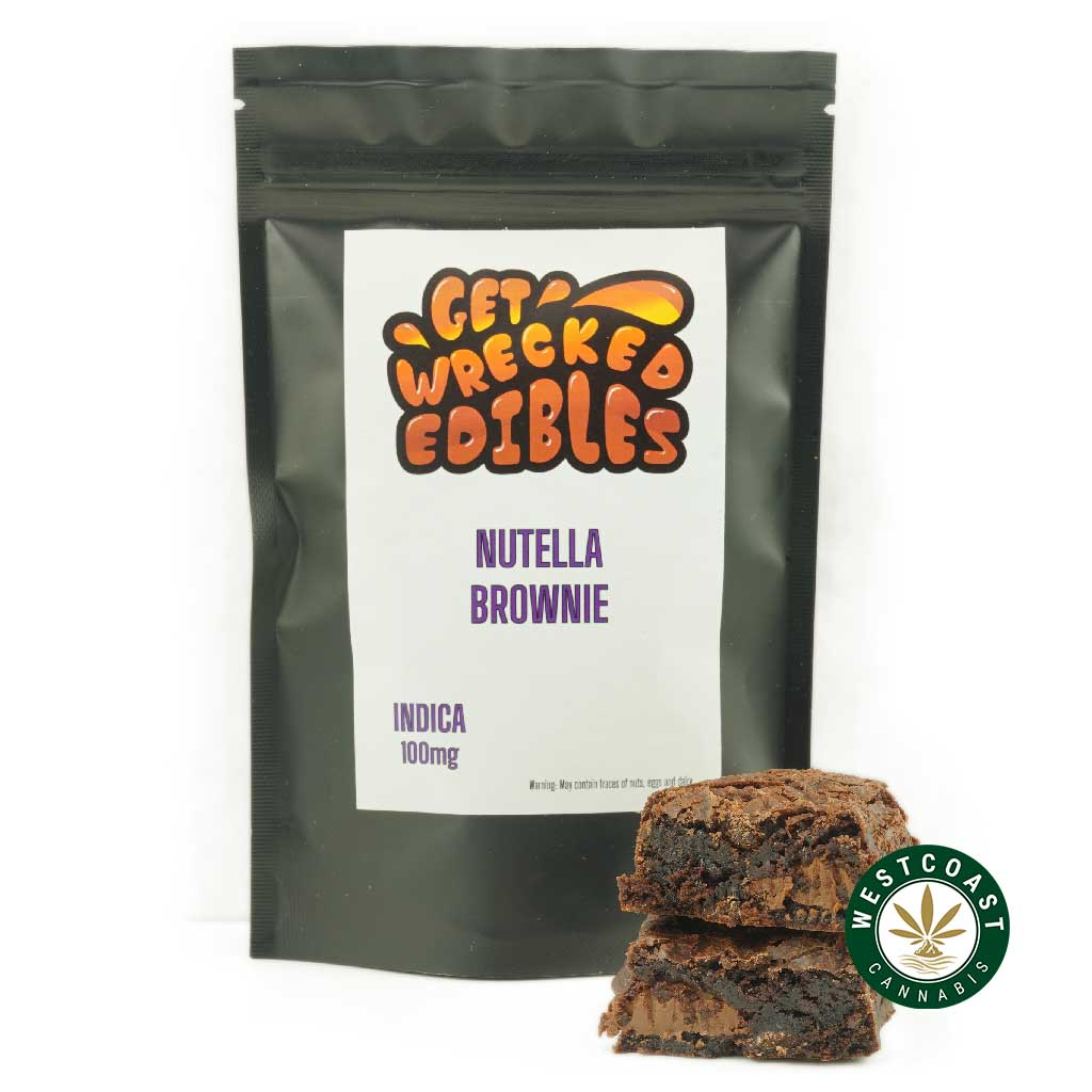 Buy Get Wrecked Edibles Nutella Brownie at Wccannabis Online Shop