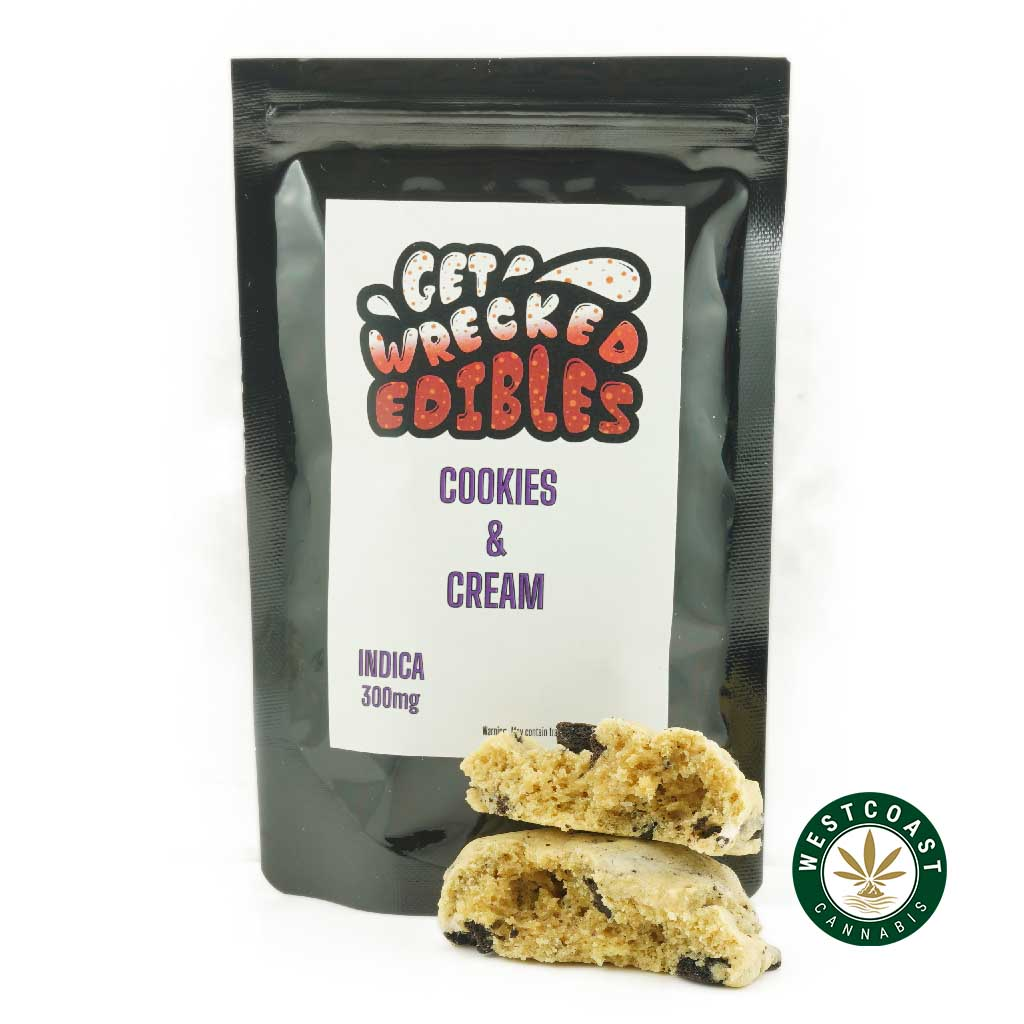 Buy Get Wrecked Edibles Cookies and Cream at Wccannabis Online Shop
